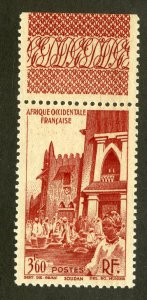 FRENCH WEST AFRICA 47 MNH SCV $1.60 BIN .85 PLACE