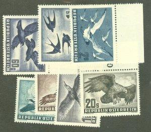 A: Austria C54-60 MNH CV $332