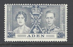 Aden Sc # 15 mint hinged (DT)