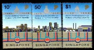 Public Utilities Board, 25th, Singapore SC#529-531 MNH set