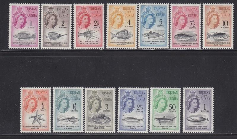Tristan da Cunh Scott #'s 42 - 54  set VF never hinged mint  cv $ 87 ! see pic !