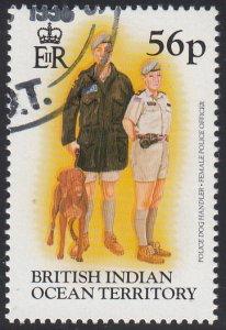 BIOT 1996 used Sc #188 56p Police dog handler, Female police officer Uniforms