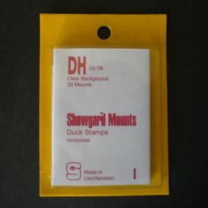 Mounts Showgard, DH, 52/36mm (30ea. clear)(00526C)