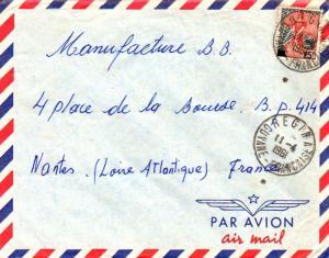 French Guiana France 25F Marianne and Ship of State 1961 Regina, Guyane-Franc...
