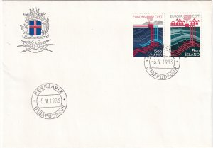 Iceland #573-4  First Day Cover (Z5991L)