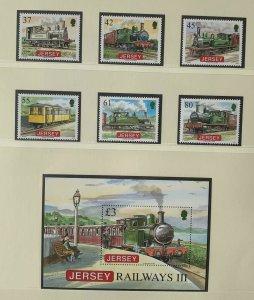 JE113) Jersey 2009 Railways Part III (6) + M/S MUH