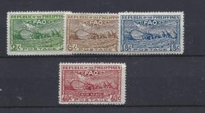 Philippines, 522-24, C67, FAO Organization Singles, **MNH**