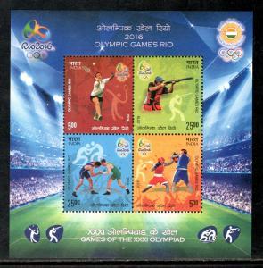 India 2016 Rio Olympic Games Badminton Wrestling Sport Sc 2803 M/s MNHH