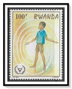 Rwanda #1066 Year Of Disabled MNH