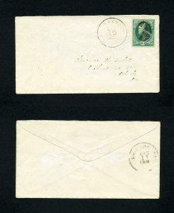 FREE SHIPPING - # 184 Whitestown, NY, DPO, to Philadelphia, PA - 12-10-1880's