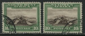South West Africa 1931 10/ both values used