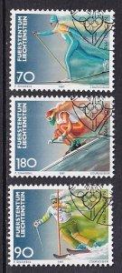 Liechtenstein   #1110-1112   cancelled    1997  Olympic games  Nagano   skiing