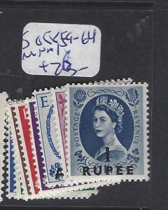 BRITISH PO IN EASTERN ARABIA (P2402B) MUSCAT ON GB QEII  SG 58,, 59-64  MNH