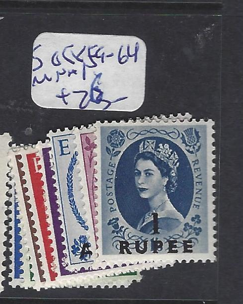 BRITISH PO IN EASTERN ARABIA (P2402B) MUSCAT ON GB QEII  SG 58,, 59-64  MNH