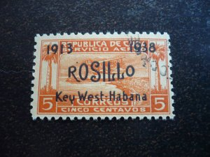 Stamps - Cuba - Scott# C30, Used single overprinted Stamp