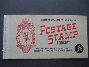 1953 SG SB32 3/6d BOOKLET WITH 2 PANES OF SG262a CV €23.00, FREE STD SHIP W/W