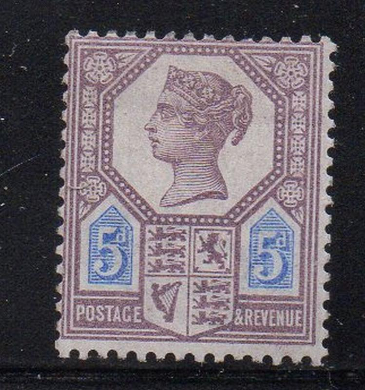 Great Britain Sc 118 1897 5d lilac & blue Victoria stamp mint
