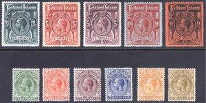 Falkland Is 1912 1/2d-£1 GV Definitive Scott 30-40 SG 60-69 MLH Cat $1,317