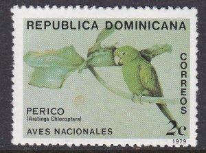 Dominican Republic #820 single F-VF Mint NH ** Parrot