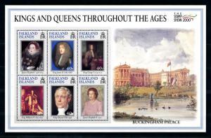 [72083] Falkland Islands 2000 Royalty History Buckingham Palace Sheet MNH