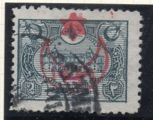 Turkey 1915 Behie Issue Fine Used 2p. Star & Crescent Optd NW-04654