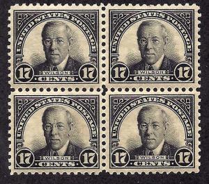 623 Mint,OG,VLH/NH... Block of 4... SCV $56.00