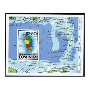 Dominica 607,MNH.Michel 613. Independence Day 1978,Map.