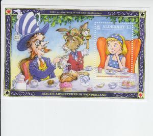 2015 Alderney Alice in Wonderland SS (Scott 518) MNH