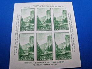 U.S. STAMPS FOR COLLECTORS - SCOTT #751 - S/S     MNH    (kb751)