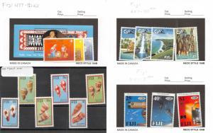 Lot of 32 Fiji MNH Mint Never Hinged Stamps Scott Range 477 - 594 #137411 R