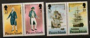 PITCAIRN ISLANDS SG167/70 1976 BICENTENARY OF AMARICAN REVOLUTION MNH
