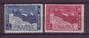 J21287 Jlstamps 1927 belgium hv,s of set mh #b62-3 boat