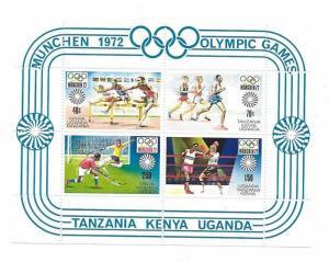 Kenya Uganda Tanzania KUT 1972 20th Olympic Games Sc 253a MNH