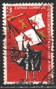 Spain. 1965. 1561. Check in Florida, sailboat, flag. USED.
