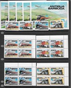 Antigua 954-8 MNH cpl set x 5, f-vf, see desc. 2020 CV$ 76.00