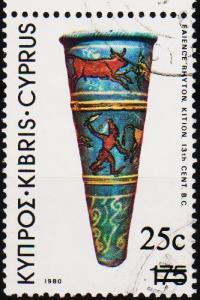 Cyprus. 1983 25c on 175m S.G.617 Fine Used