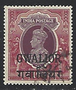 Gwalior #114 Mint Hinged cv $40