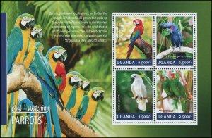 Uganda 2014 Sc 2114 Birds Parrot CV $8