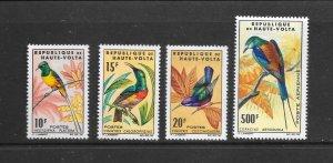BIRDS - BURKINA FASO #136-9, C20  MLH