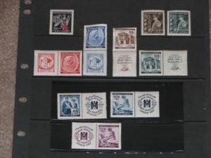 Czech-Bohemia-Moravia-WW2-Semi Postalsi, MNH