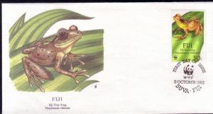 Fiji FDC SC# 591 Fiji Tree Frog L32