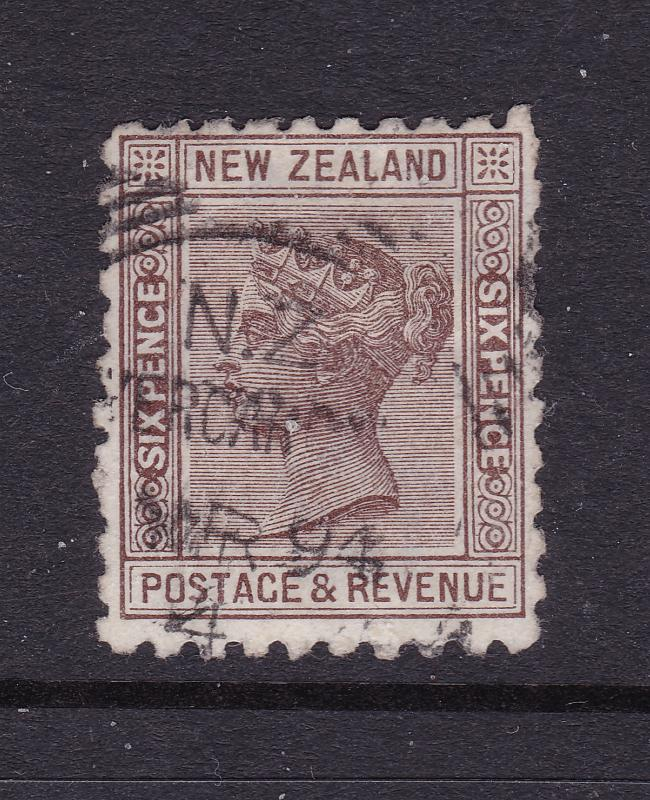New Zealand an 1882 QV 6d used with Advert