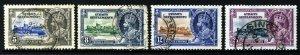 STRAITS SETTLEMENTS King George V 1935 Silver Jubilee Set SG 256 to SG 259 VFU