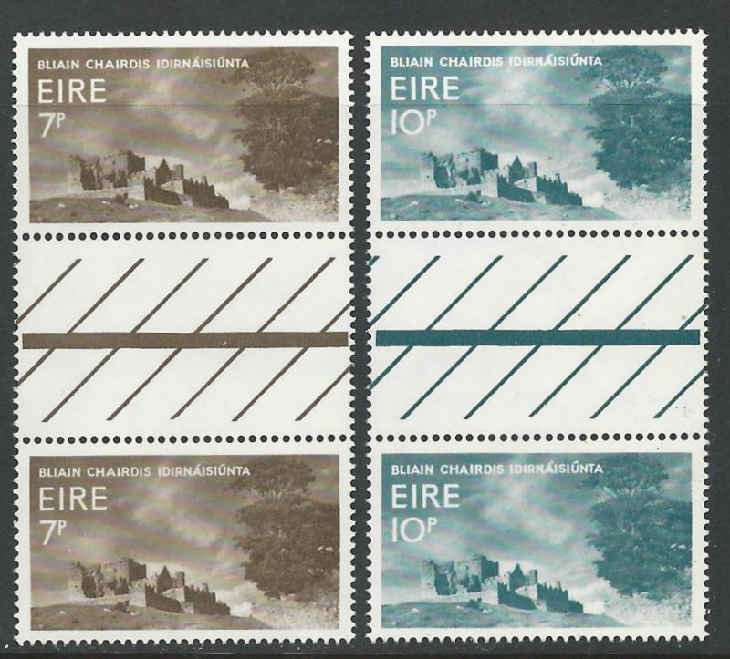 Ireland # 236-37 Tourist Year   GUTTER PAIRS (2)  Mint NH
