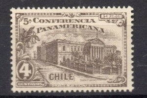 Chile 1923 Pan America Issue Mint hinged Shade of 4c. NW-13087