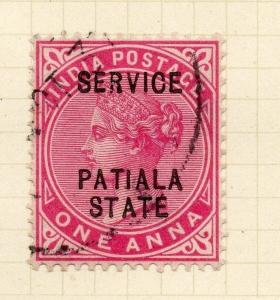 Indian States Patiala 1902 Early Issue Fine Used 1a. Optd 075611
