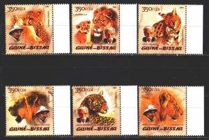 Guinea-Bissau. 2005. 2818A-23A. Predatory cats, lion. MNH.