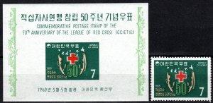 Korea #654, 654a  MNH CV $6.75 (K3069)