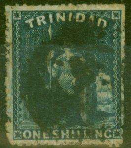 Trinidad 1861 1s Dp Bluish Purple SG59 Good Used