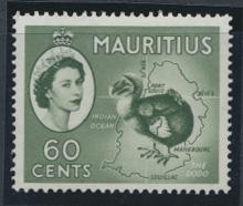 Mauritius  SG 302a Scott #261   Deep green  Mint Light hinge trace   see deta...